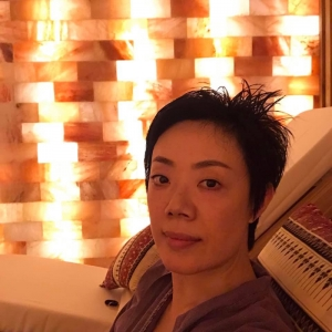 Relaxing in Himalayan Salt Room after the Thai Hammam journey
