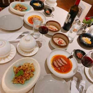 Thai set menu.